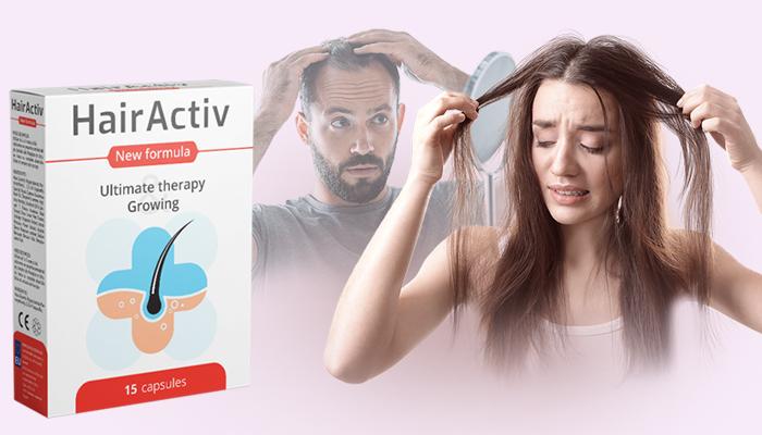 HairActiv pre rast vlasov a nechtov: zdravé nechty, dlhé mihalnice, krásne obočie a husté vlasy